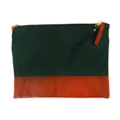 Eline Rose Two-Tone Dark Navy Blue and Red Clutch