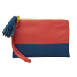 Eline Rose Two-Tone Shocking Pink and Blue Wallet