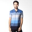 BYTAGO Stripe Short Sleeve 129 Blue Polo Shirt