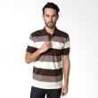 VERENZO Man Stripe 141 Brown Kaos Polo