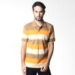 Verenzo Stripe Short Sleeve 090 Brown Polo Shirt