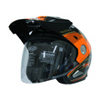 Cargloss AHRS Former Ontario Orange Deep Black Helm Half Face