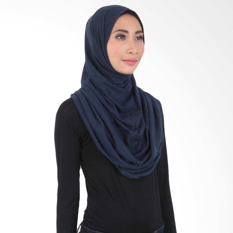 House of Deyna 2-in-1 Instant Hijab Dark Blue