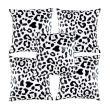 Eolins Leopard JSPS033 Hitam Putih Sarung Bantal Sofa [5 Pcs]