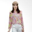 Kakuu Basic Shirt Spring Flower Motif Pink Tone