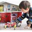 Kroom Dylan Fire Station Mainan Anak