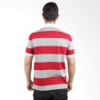 Labette Polo Shirt Light Grey Stripe Red 103361609