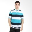 Labette Polo Shirt White Stripe Green 103431214