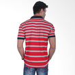 Labette Polo Shirts Grey Stripes Red