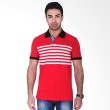 Labette Polo Shirts Red Stripes White