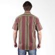 Labette Shirt 108112605 Stripe Green and Red Kemeja Pria