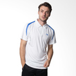 Li Ning Men's Polo APLF259-2 White Blue Kaos Badminton