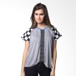 Loony Chest Sleeve Grey Atasan Wanita