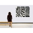 Lukisanku Mini Zebra Lukisan Minimalis