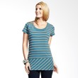 Mamaway Diagonally Striped Maternity & Breastfeeding Top Blue