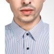 Manly Royden Slim Fit Striped Brown Kemeja Pria