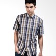Manly Short Sleeve Checked Shirt In Brown