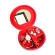Grandby Kotak Perhiasan Kerang Croco Merah