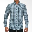 My Doubleve Checkered Shirt Blue Green
