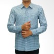 My Doubleve Checkered Shirt Light Blue