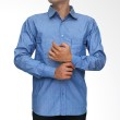 My Doubleve Striped Shirt Blue Patch Pocket