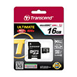 Transcend Ultimate 600x UHS-I MicroSDHC Memory Card [16 GB/Class 10]