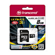 Transcend Ultimate 600x UHS-I MicroSDHC Memory Card [8 GB/Class 10]
