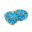 Petite Lola Blue Coral Stud Earrings- clip on