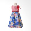 PMC Flowery Bross Stripes Red Rok Blue Dress