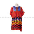 PMC Gamis Kalong Orange Tribal Dada Blue Indian Beaded