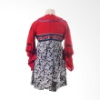 PMC Kimono Red Top Batik Black Skirt Jepang