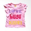 Pleu Love Hugs Kisses Pink Atasan Anak Perempuan