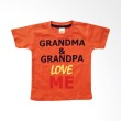 PLEU T-Shirt Grandma Grandpa Love Me Orange Atasan Anak