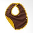 Babysoy Unisex Reversible Bib Cocoa