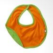 Babysoy Unisex Reversible Bib Tangerine