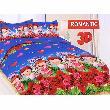 Ronaco Bonita Romantic Set Sprei - Biru [180 x 200 cm]