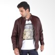 Sogno Leather Jacket 020 Men Jacket Brown Jaket Pria