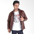 Sogno Leather Jacket 025 Men Jacket Brown Jaket Pria