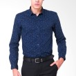 The Executive ABEL CT R157L Shirt Navy