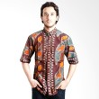 The Y Label Prodigal Sun Short Sleeve Brown Full Pattern