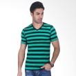 Urban Connexion Green Stripe V Neck T-Shirt