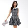 White Lotus Blue Mini Dress